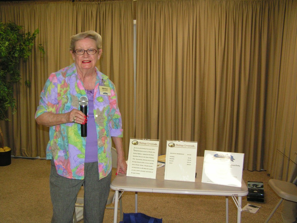 Barb Kelly, Chairman, giving a presentation to the Hammock A1A Scenic Highway group.
